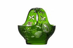 Lead Crystal Basket Thistle